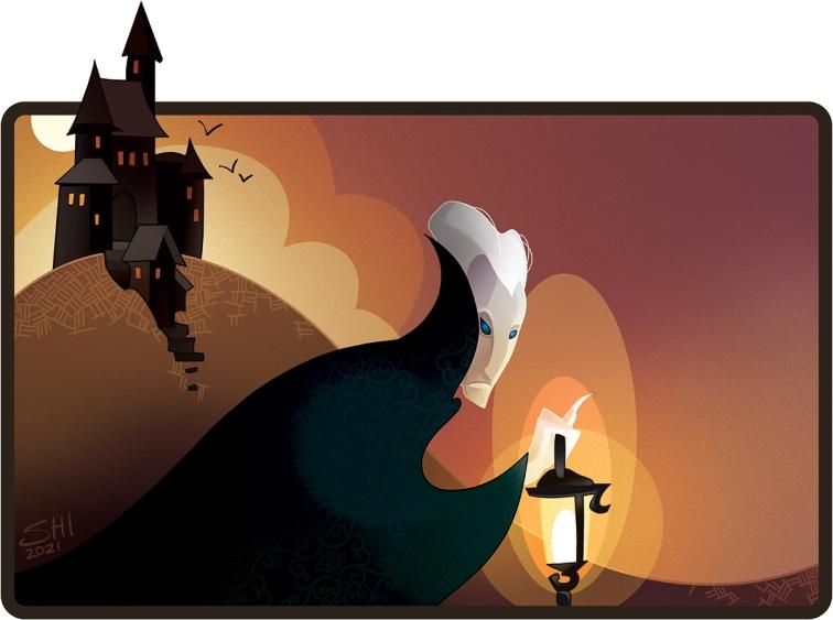 One Book a Week Illustration for Bram Stoker DRACULA