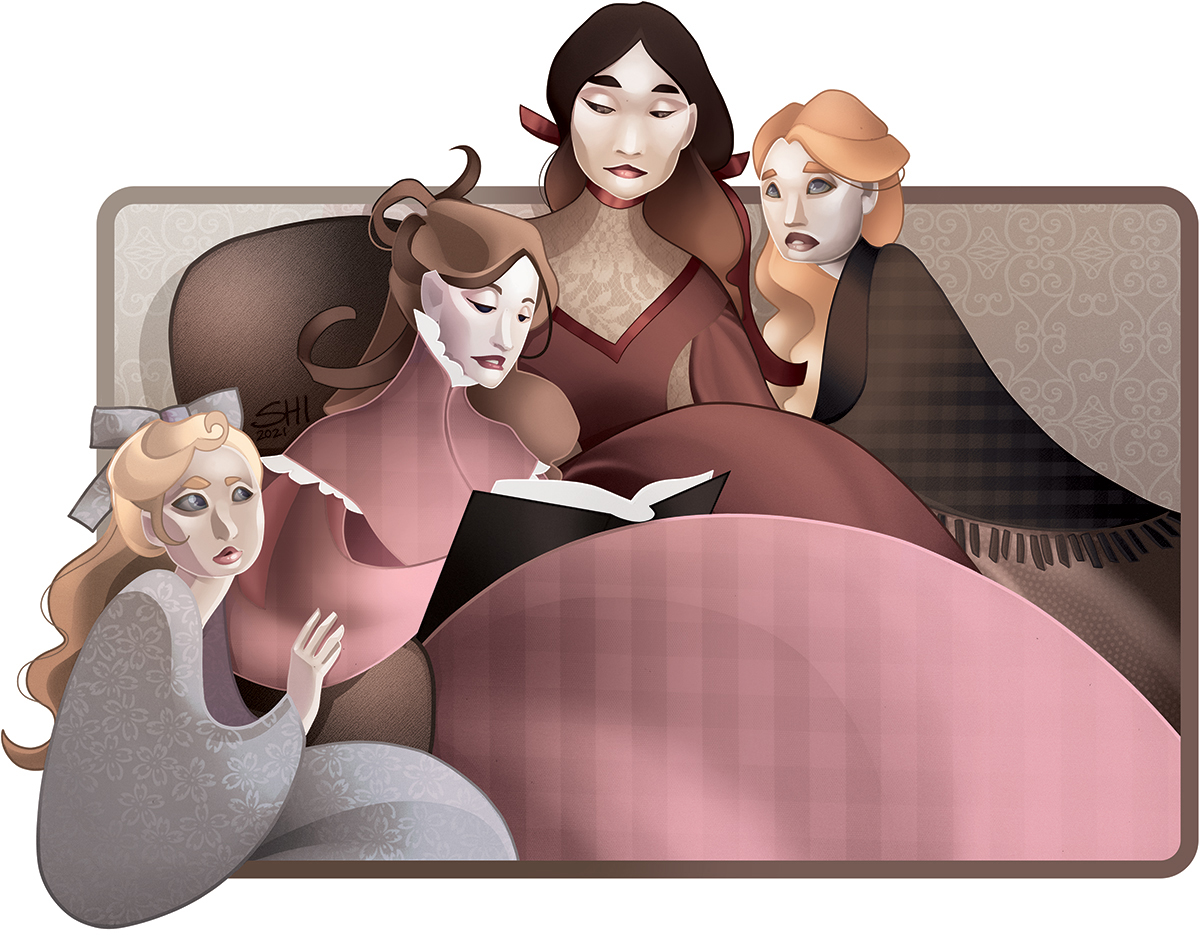 One Book a Week Illustration for LITTLE WOMEN